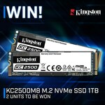 Win 1 of 2 Kingston 1TB M.2 NVMe SSDs Worth $289 from PC Case Gear
