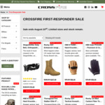 -41% ShapeShifter Orthopaedic Duty Belt $76 (Was $128); -35% Rocky Tactical Assault Boots $273 (Was $420); + $18s/h @ Crossfire