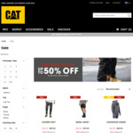 Up to 80% off (e.g. Quilted Bomber Jacket $59.99, Ninety Eight Jeans $19.99) @ Cat Workwear