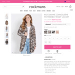 Womens Patterned Fluffy Teddy Jacket $25 (Was $99.99) @ Rockmans