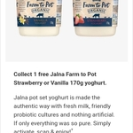 Collect 1 Free Jalna Farm to Pot Strawberry or Vanilla 170g Yoghurt @ Coles (flybuys Members)