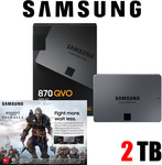 Samsung 870 QVO 2TB SSD Plus Free Assassin's Creed Valhalla $285 + Postage at Online Computer