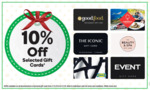 10% off IKEA, Good Food Restaurant, Redballoon, The Iconic, The Beauty & Spa, Event Cinemas Gift Card @ Woolworths