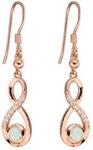 S925 Solid Opal INFINITY Earrings $99 (Save $170) + $10 Shipping ($0 over $100 Spend) @ Wellington Jeweller