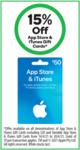 15% off App Store & iTunes Gift Cards | ½ Price Weet-Bix 575g $1.90, Sanitarium Up & Go 6x250ml $4.85 @ Woolworths