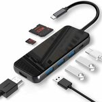 TEBCTW USB C HUB 7in1 Adapter $27.28 + Delivery ($0 with Prime/ $39 Spend) @ TEBCTW Amazon AU