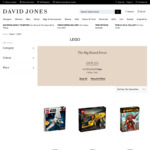 25% off All LEGO @ David Jones
