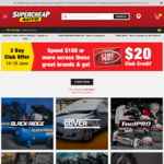 [Club Plus] $20 Credit on $100 Min Spend On Selected Brands @ Supercheap Auto