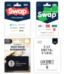 15% off Swap Food Delivery, Swap Adventure & Leisure, Restaurant Choice & Gourmet Travellers Gift Cards @ Woolworths