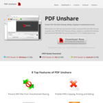 [Windows] Free 6 Month License for PDF Unshare Pro Software