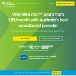 nbn Unlimited 100/20 $79/Month for 6 Months (New Customers Only) @ Aussie Broadband
