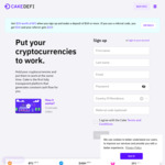 US$50 in DFI from CakeDefi (US$50 Deposit Required)