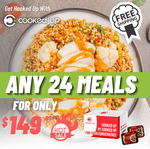 [NSW, VIC, QLD] 24 Fresh Pre Made & Cooked Meals $149.99 Delivered @ Cooked Up