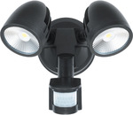 Starco Lighting 24W LED Twin Head Spotlight Black/White $65.21 (Was $96.59) + Delivery ($0 C&C) @ Star Sparky Direct