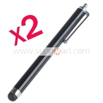 2 PCS Universal Touch Screen Stylus Pens for iPhone iPad - Black $1.99 w/Free Shipping