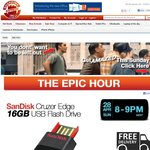 SanDisk 16GB Pen Drive Pay Only $4.99 Shipped *1 Per Person ShoppingExpress Epic Hour Sun 8-9pm