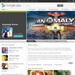 [Android] Anomaly Korea and Anomaly Warzone Earth HD at $1.99 Each, 50% off