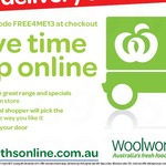 Free Delivery for Orders Placed between 6/12 to 8/12 (Minimum Order $30) @ Woolworths Online