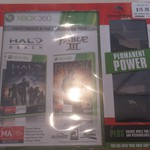 EB Games Xbox 360 Games (Halo Reach & Fable III) and Spartan Control Charge Bundle for $15.95