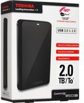 """Toshiba Canvio Basics 2TB USB3.0 2.5"""" Portable HDD $129 Free Delivery 1pm -3pm Today Only @ DSE"""