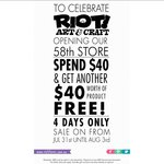 Spend $40 and Get $40 Worth of Additional Products for Free at Riot Art & Craft Stores