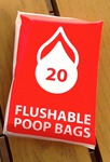 FREE: Flushable Poop Bags