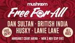 Mushroom Free For All Music Concert - Monday 3rd November @ Margaret Court Arena, Melbourne Park