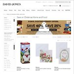 40% off Xmas Home, 25% off Xmas Food - David Jones