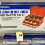 Performer Two Drawer Tool Chest with 194 Pieces. $24 Kmart