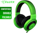 Razer Kraken Analog Gaming Headphones - Green - $49.95 - COTD