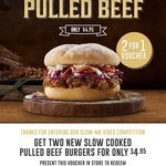 Hungry Jacks BOGOF - Pulled Beef Burger (Save $4.95) [VIC, WA, QLD, SA, NSW]