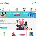 25% off Blu-Ray and DVDs at Shop My Disney