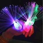 93% off US $0.25 AU $0.34 Peacock Finger Colorful LED Light-up Rings @Lightake