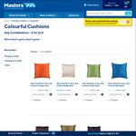 Style Selections Faux Silk Cushion 40cm - 7 Colours $5.00 (or 5 for $10) @ Masters