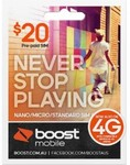 Boost $20 Trio Sim ($25 INCLUDED VALUE) $9 Shipped. Up to 5.5GB Data & Unltd Texts @ Phonebot