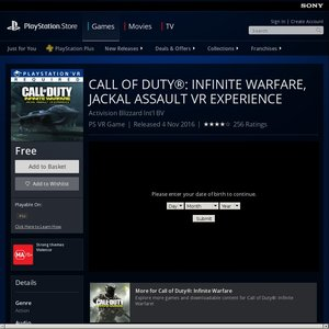 FREE Sony PlayStation VR Game: Call of Duty®: Infinite