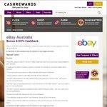2.6% Cashback (Was 1.3%) @ eBay from Cashrewards