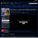 Far Cry 4 + Far Cry Primal Bundle SA $47.95