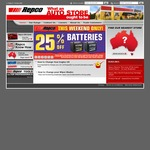 Repco Auto Store Discounts (Various) This Weekend: 25% off Batteries, 35% - Coolants, 40% Globes & Wipers