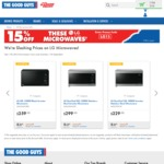 15% off The LG Microwaves @ The Good Guys