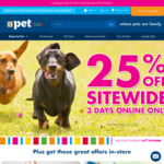 25% off 3 Days Online Only @ PETstock