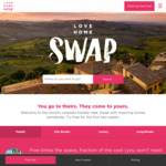 1000 Points for $432 Signup (E.g. 10nts Accommodation) + 4 Free Airport Lounge Passes @ Love Home Swap