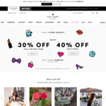 40% off Sale Items, 30% Full Priced Items (US $35 Shipping) @ Kate Spade