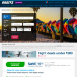 Orbitz 15% off Hotel Bookings