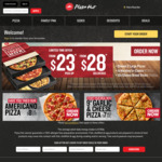 Pizza Hut Family Treat Box $23 Pickup or $28 Delivered (2 Large Pizzas, 1 Hershey Cookie, 10 Cheesy Bread Sticks)