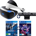 PlayStation VR + PS4 Camera + VR Worlds + Driveclub VR $489 @ EB GAMES
