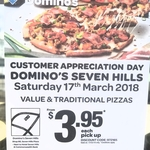 [NSW] Seven Hills - Value or Traditional Pizzas $3.95ea @ Domino's