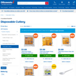 [Instore Only] Applaud Disposable Cutlery $0.50 Plates/Bowls $1 @ Officeworks