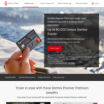 Qantas Premier Platinum 80K Qantas Points Sign up - $299 Annual Fee