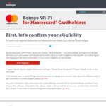 Free Global Boingo Wi-Fi for 28 Degrees Platinum Mastercard Holders